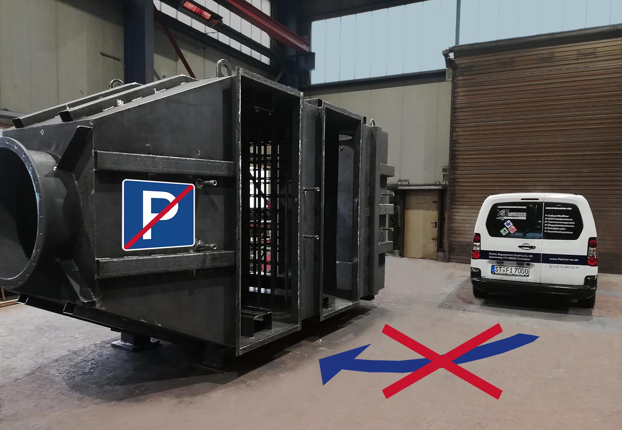 Das ist keine Garage - sondern ein Rußfilter ;-)