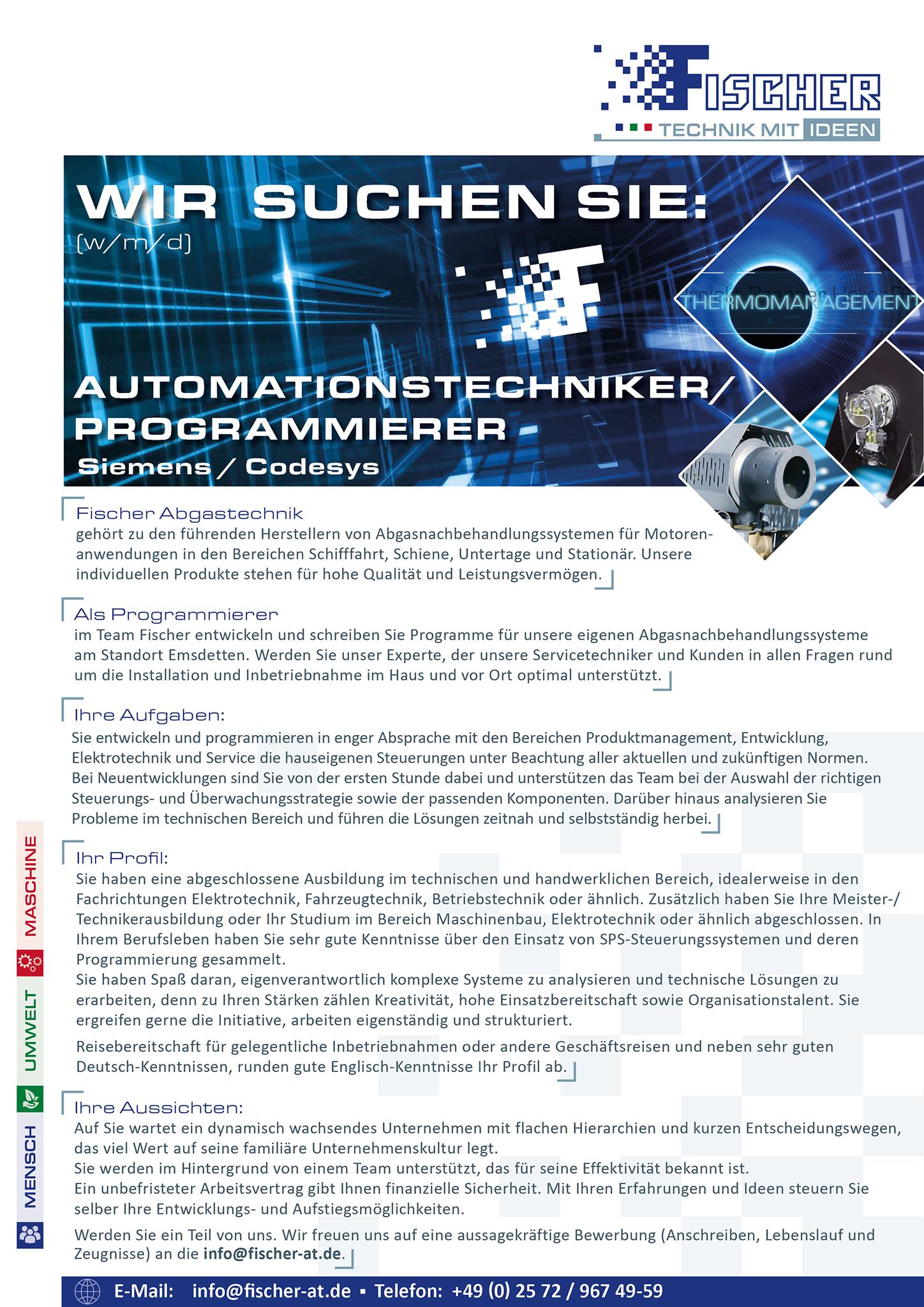 Programmierer und Automationstechniker